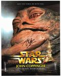 "STAR WARS John Coppinger ""Jabba the Hutt"" 10""x 8"" genuine signed autograph COA  11466"
